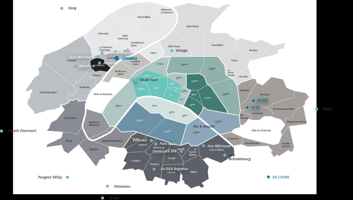 Map des réalisations